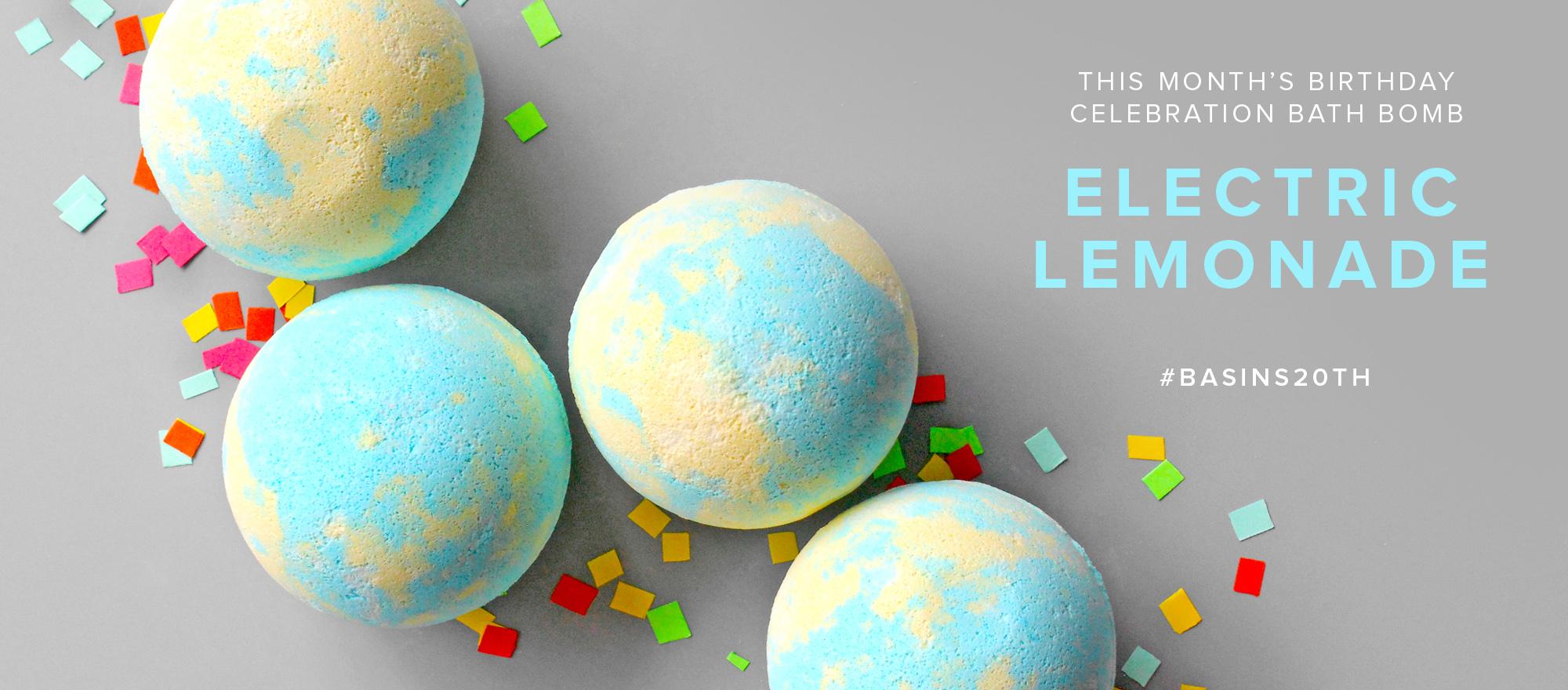 Electric Lemonade Bath Bomb