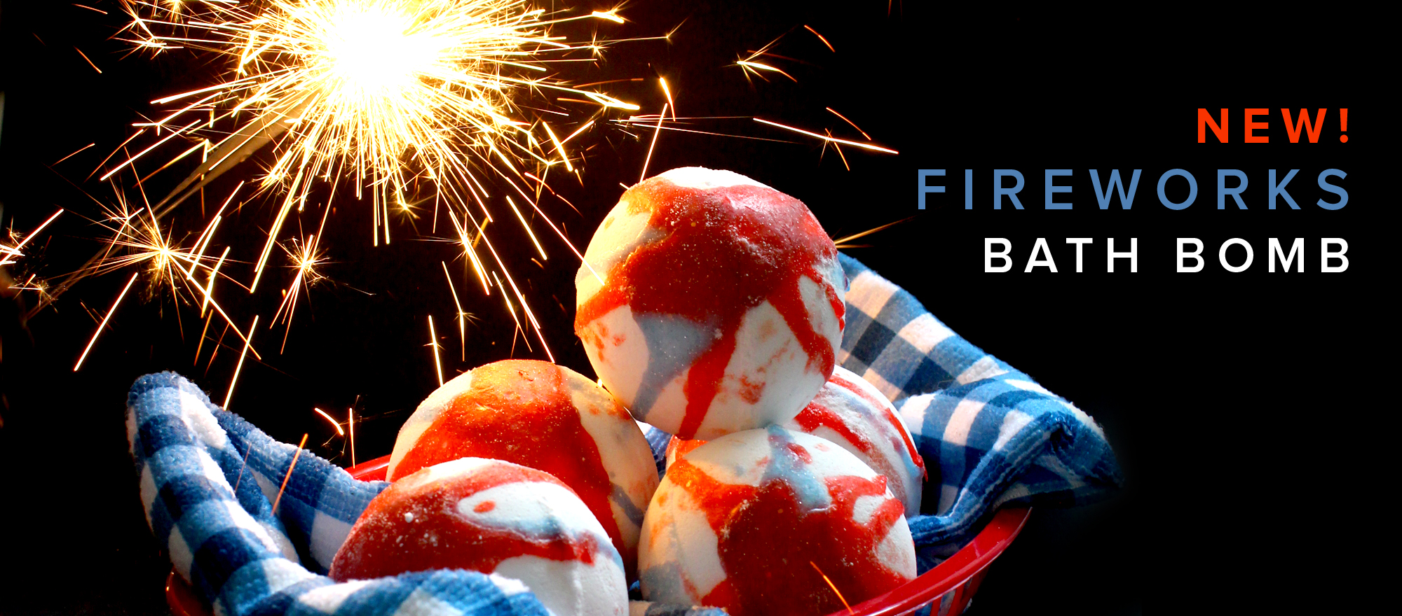 NEW Fireworks Bath Bomb