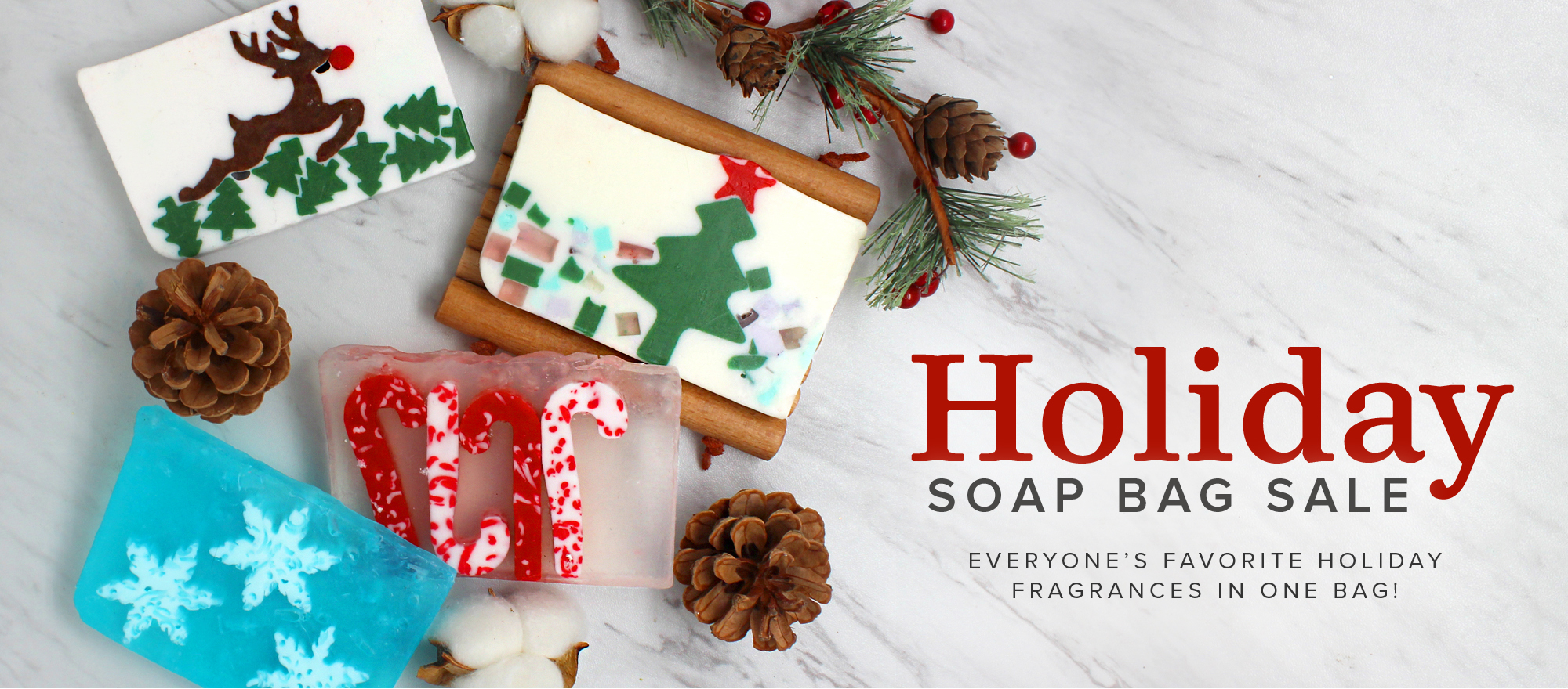 Holiday Soap Bag Sale