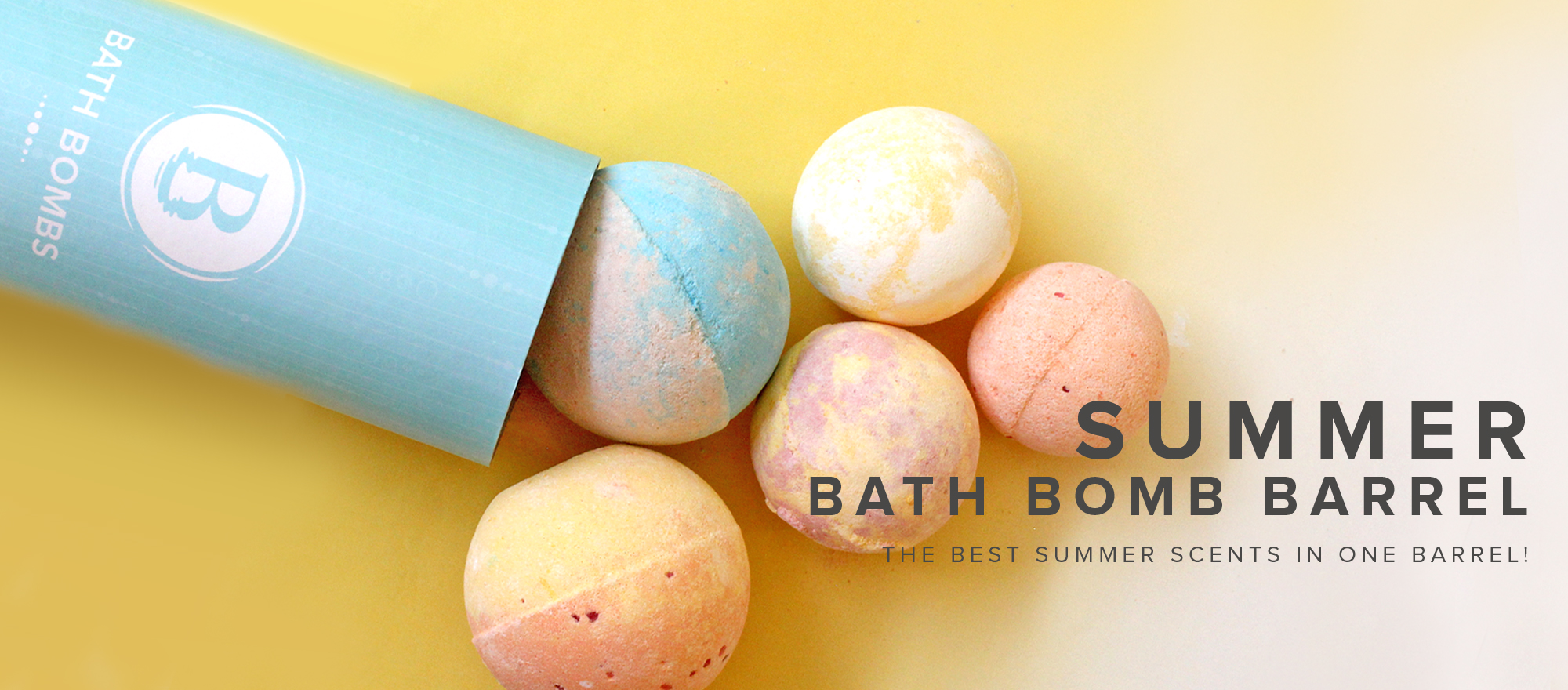 Summer Bath Bomb Barrel