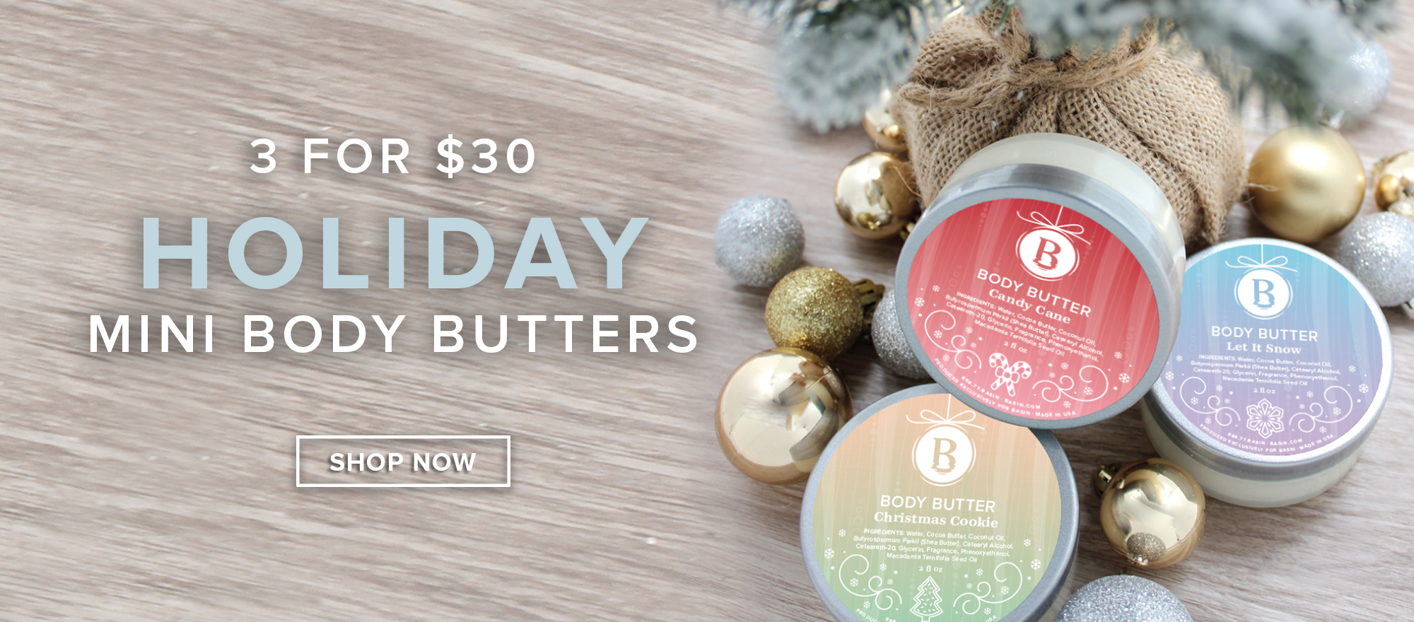 Holiday Mini Body Butters