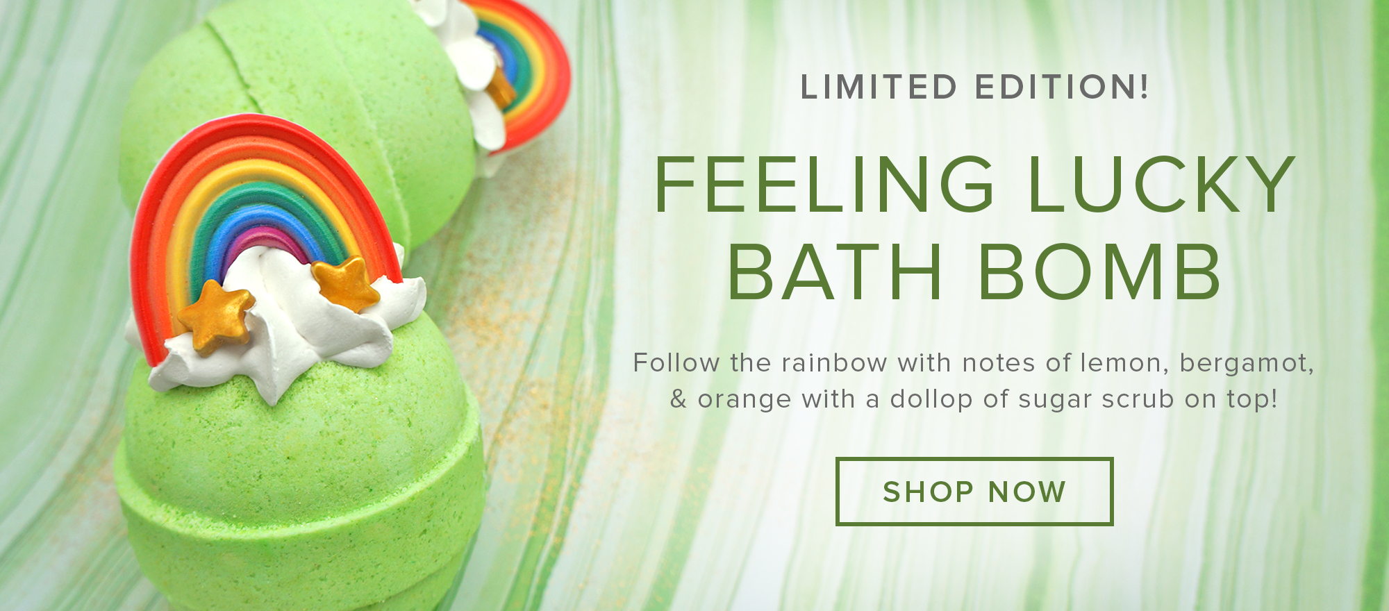 NEW! Feeling Lucky Bath Bomb