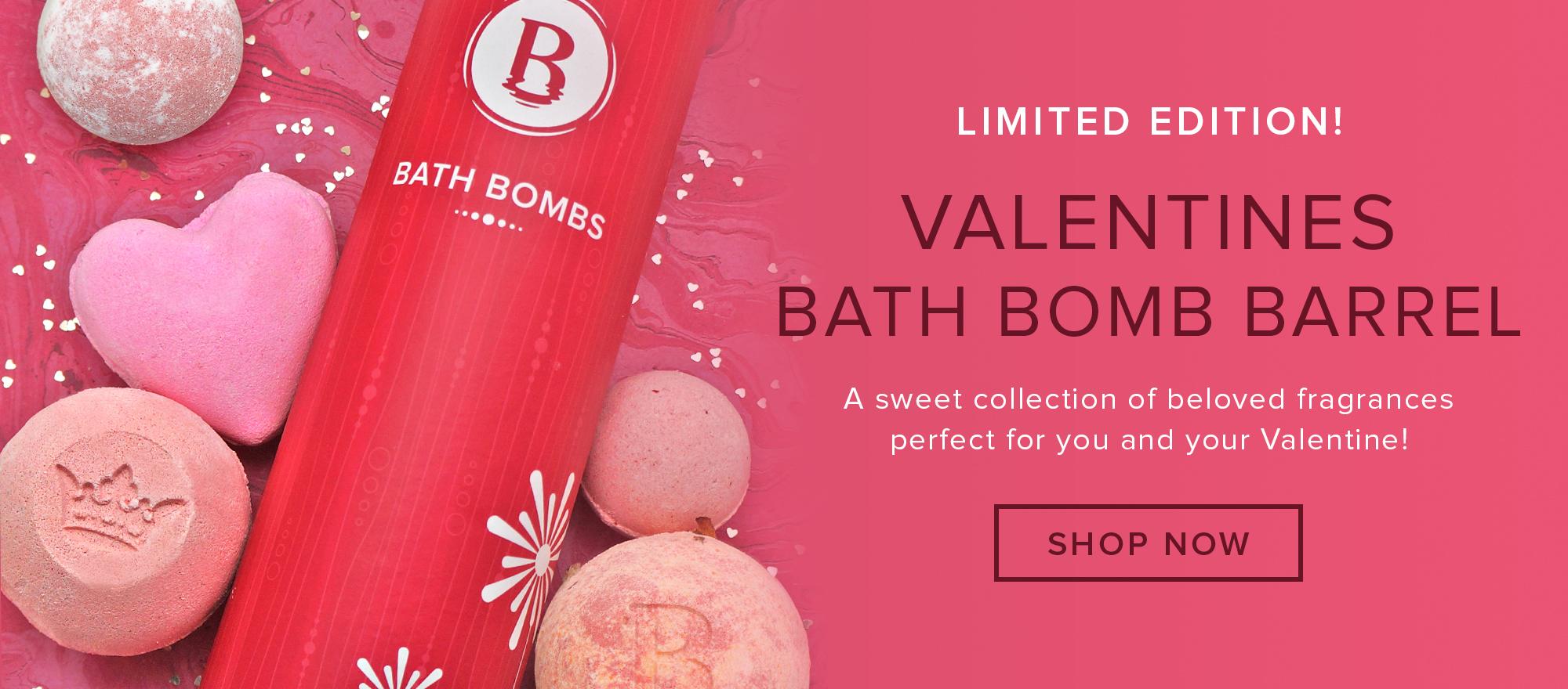Valentines Bath Bomb Barrel
