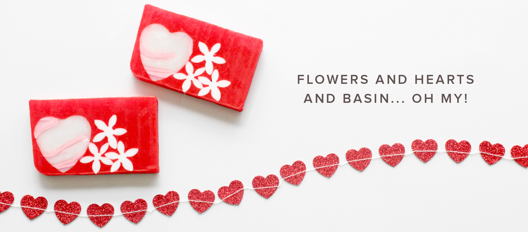 Flowers and Hearts Soap