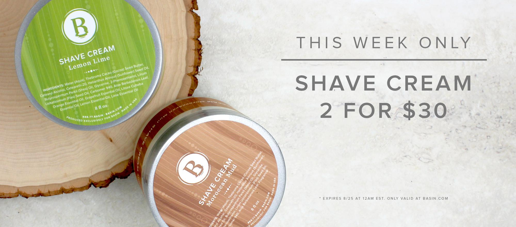 Shave Cream Sale