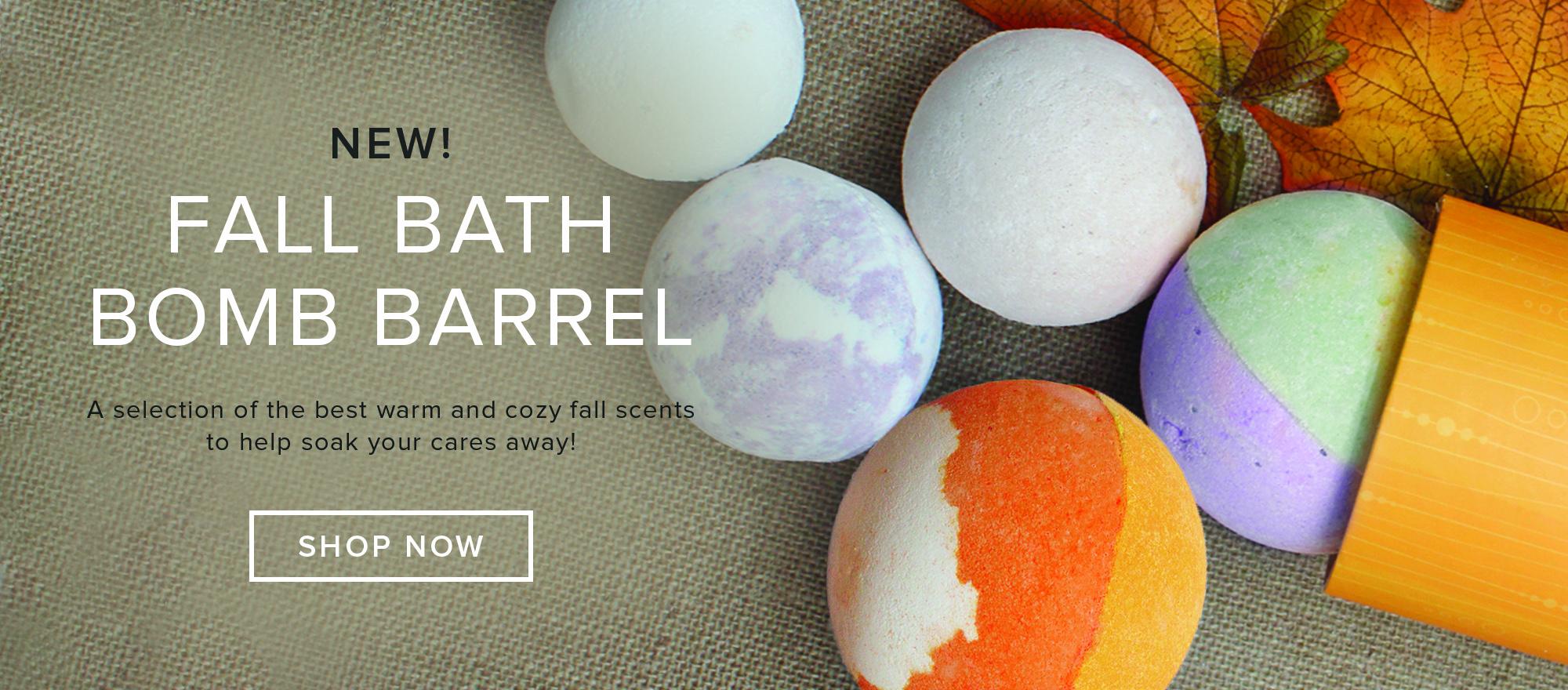 Fall Bath Bomb Barrel