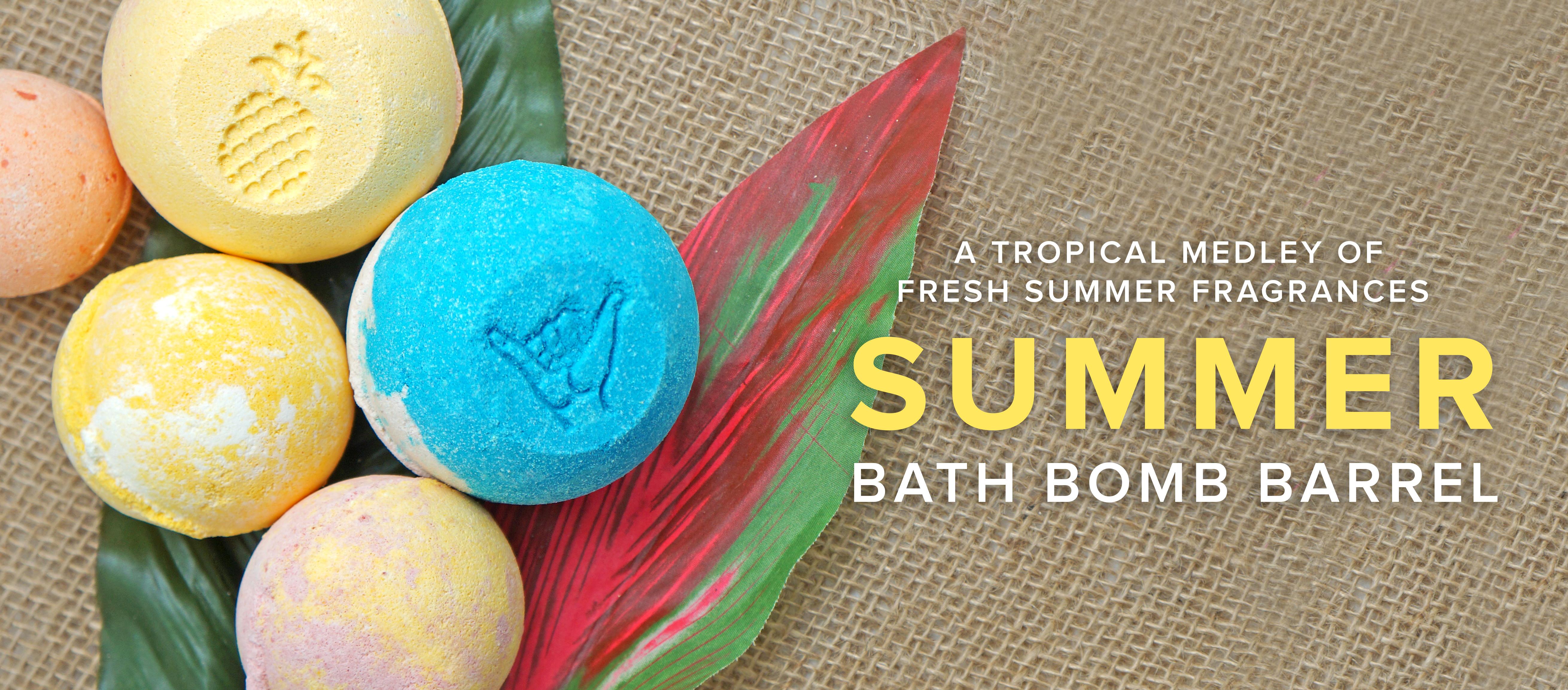Summer Bath Bomb Barrel