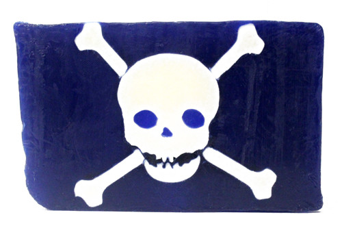 Pirate skull and crossbones vegetable glycerin soap