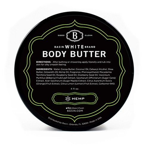 Hemp Body Butter (Basin White)