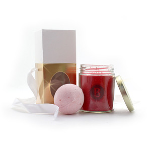Candy Cane Candle Gift Set