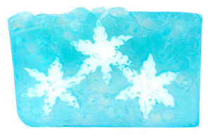 Fresh Cut Snowflake vegetable glycerin soap