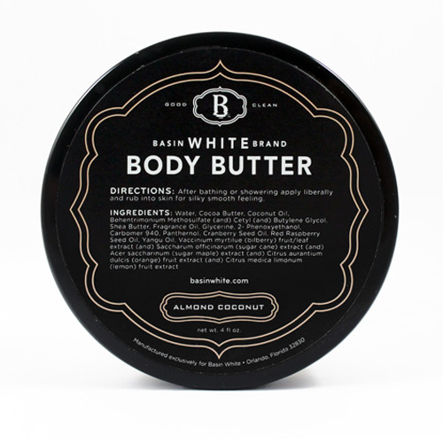 Almond Coconut Body Butter (Basin White)