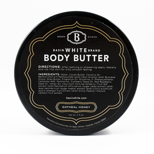Oatmeal Honey Body Butter (Basin White)