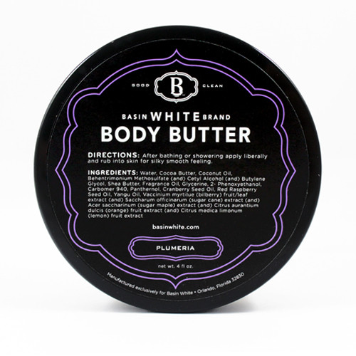 Plumeria Body Butter (Basin White)
