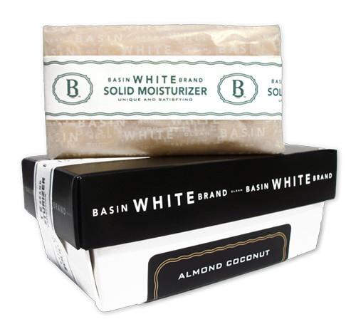 Almond Coconut Solid Moisturizer (Basin White)