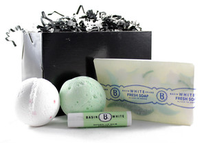 Basin White Soap Gift Box