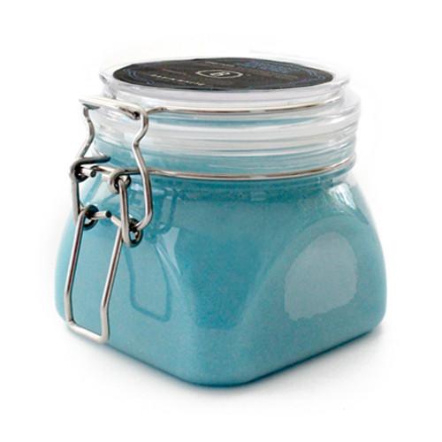 Sandalwood & Patchouli Shea Salt Scrub (Basin White)