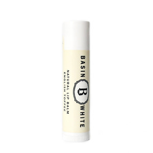 English Toffee Lip Balm (Basin White)
