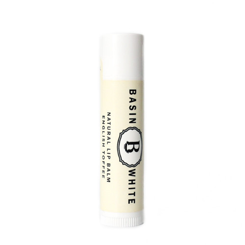 English Toffee Lip Balm (Basin White)