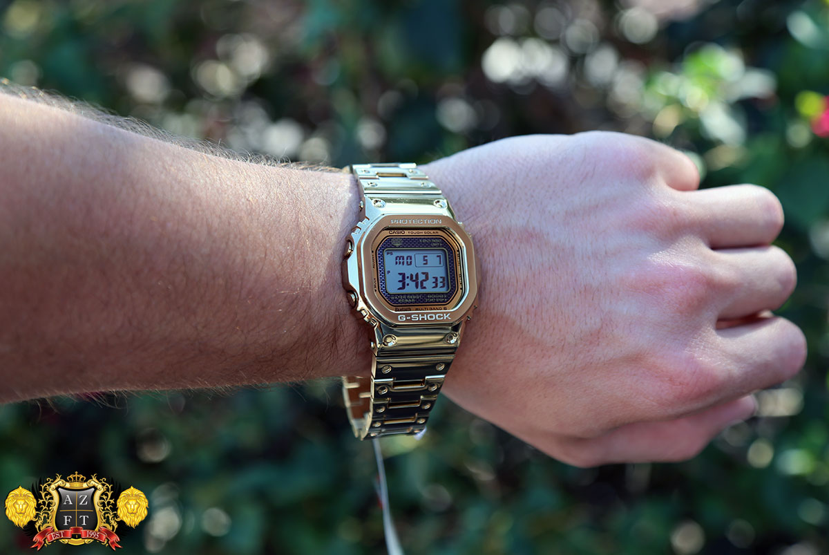 6dfd7929b0eb3 G-SHOCK FULL METAL GMW-B5000TFG-9 35TH ANNIVERSARY GOLD REVIEW 2018  EXCLUSIVE BASELWORLD RELEASE