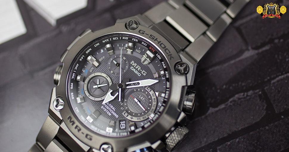 Casio G-Shock MR-G GPS Hybrid Wave Ceptor MRGG1000B-1A ...