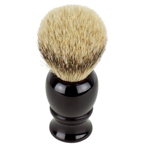 Hirsh Luxury Silvertip Badger Shaving Brush - Black (hl-sb15k)