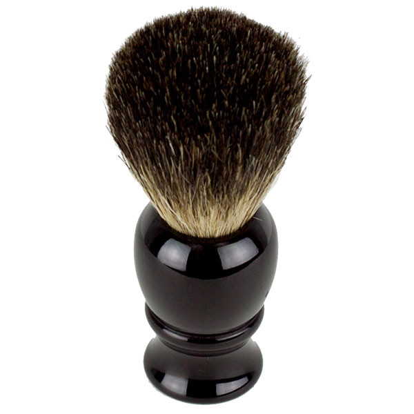 Hirsh Luxury Black Badger Shaving Brush - Black (HL-KB15K)