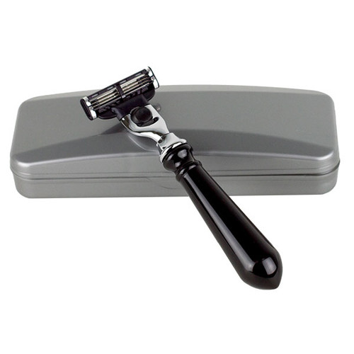 Hirsh Luxury Razor - Black Resin - Gillette Mach 3 (HL-M15KS)