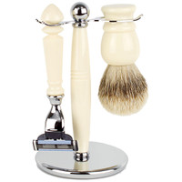 Hirsh Luxury Shaving Set - Ivory Resin - Mach 3 (HL-MSBA25RS)