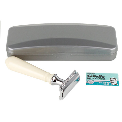 Hirsh Luxury Razor - Ivory Resin - Double Edge Safety Razor (HL-S15RS)
