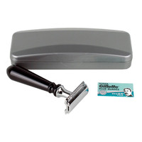 Hirsh Luxury Razor - Black Resin - Double Edge Safety Razor (HL-S15KS)