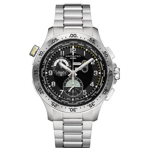 Hamilton Khaki Aviation World Timer Chrono Quartz  H76714135