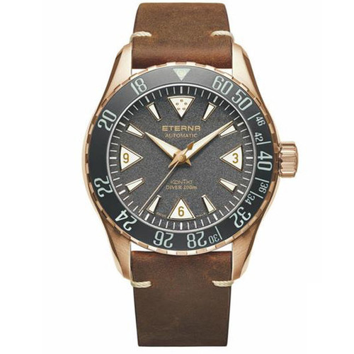 Eterna Kontiki Bronze Manufacture limited Edition 300 Pieces Worldwide 1291.78.49.4122
