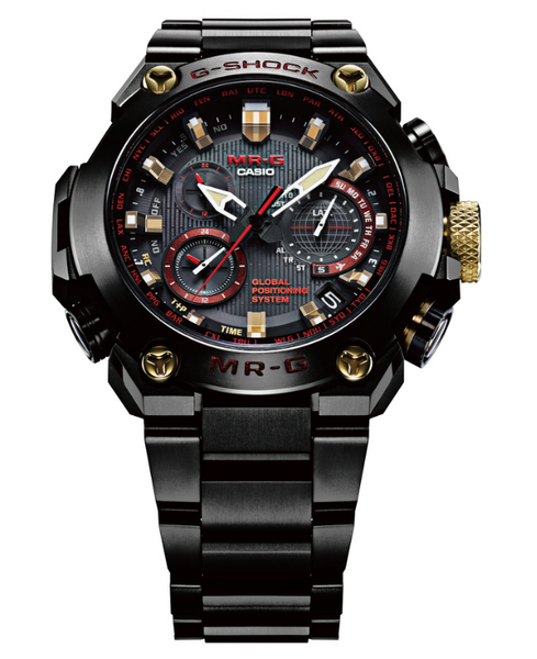 """Casio G-Shock MR-G GPS Atomic Solar Hybrid MRGG1000B-1A4 """"AKA-ZONAE"""""""