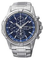 Seiko Men's Solar Alarm Chronograph SSC141