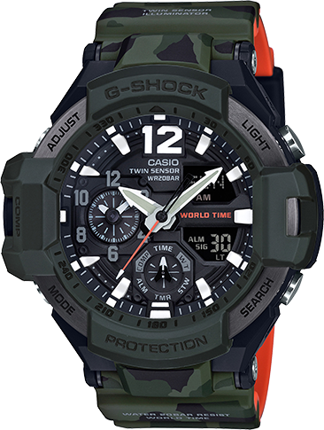Casio G-Shock Aviation Twin Sensor GA1100SC-3A