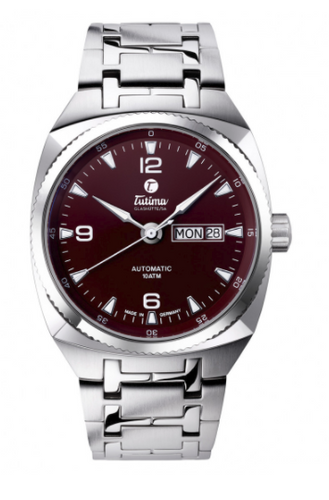 Tutima Saxon One M Automatic Maroon Brown ref : 6121-01