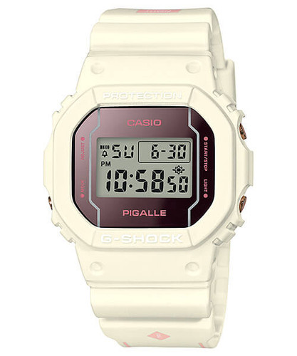 G-Shock Pigalle Collaboration White DW5600PGW-7CR
