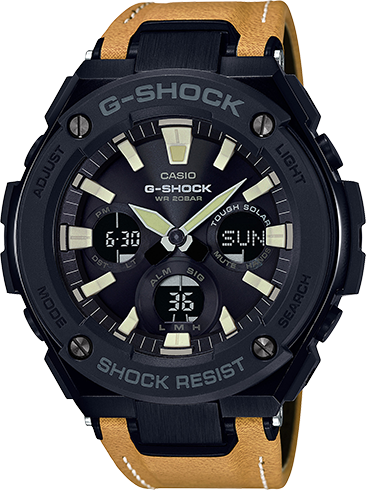 G-Shock G-Steel Black and Mustard GSTS120L-1B