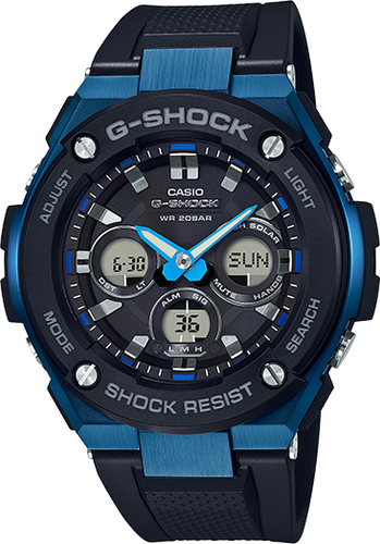 G-Shock G-Steel Black and Blue GSTS300G-1A2