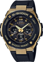 G-Shock G-Steel Black and Gold GSTS300G-1A9