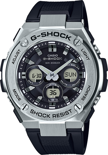 G-Shock G-Steel Black and Stainless Steel GSTS310-1A