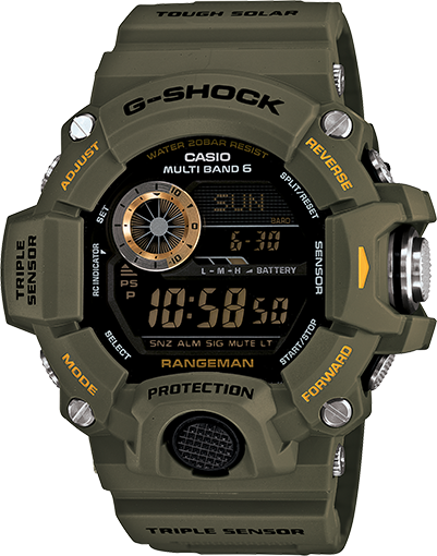 G-Shock Rangeman Limited Atomic Solar Olive GW9400-3CR