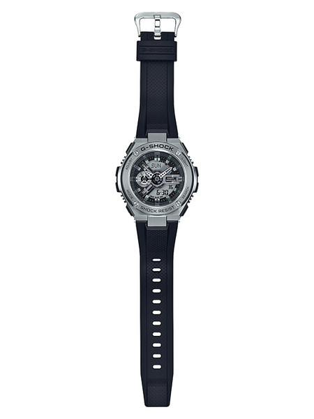 G-Shock G-Steel Black and Stainless Steel GST410-1A