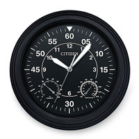 Citizen Outdoor Black Wall Clock CC2016