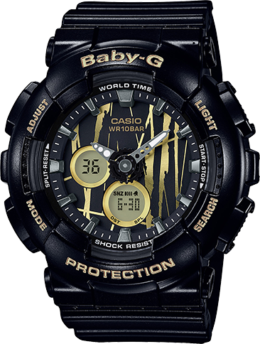 Casio G-Shock Baby-G Ana-Digital Scratch Pattern BA-120SP-1A