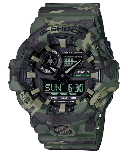 G-Shock Ana/Digital Camo Series GA-700CM-3A