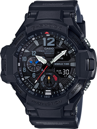 Casio G-Shock Aviation Twin Sensor GA1100-1A1