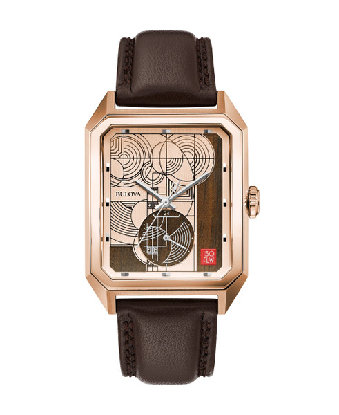 Bulova Men's Frank Lloyd Wright Hoffman House Limited Edition Of 250  97A135