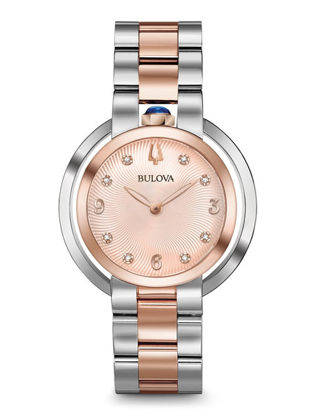 Bulova Rubaiyat Women's Watch 96P174 + Free Travel Clock